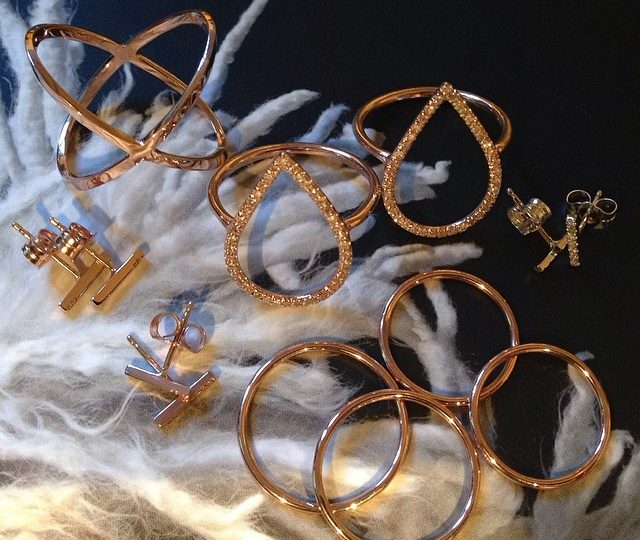 A few of my favorites headed to @willowboulder #xring #dewdropring #stickearrings #thinbands #midirings