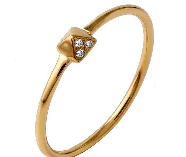 New stackable mini diamond pyramid ring #pyramid #rings #alexisjewelryla