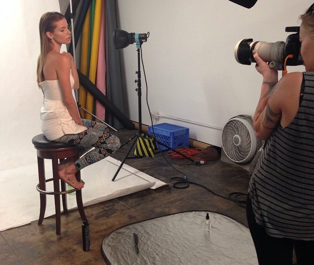 Behind the scenes our incredible shoot today with @jessicaminter @catherineasanov @hrosmakeup.  It was a dream ladies