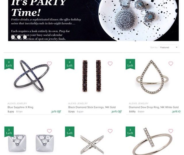 Grab some sparkles in time for your holiday soirées!  On sale now through weds @onekingslane.  #alexisjewelry #holiday #sparkles #it'stimetoparty #jewelry #rings #earrings #bracelets #necklaces #14kgold #diamonds #blackdiamond