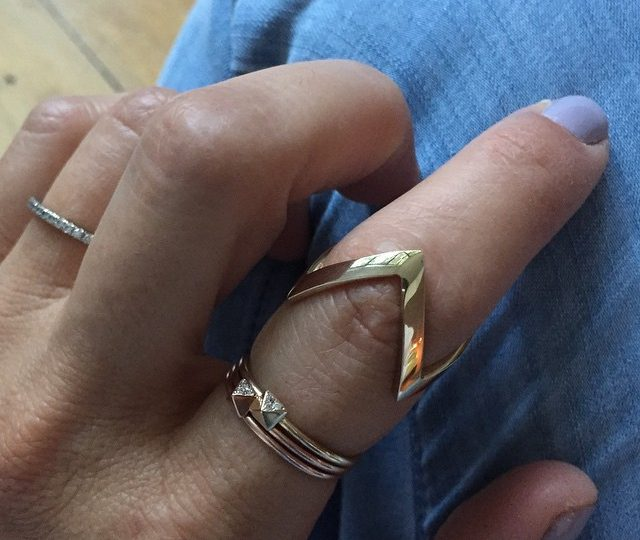 Welcome to the fam #zigzag #ring #14kgold #alexisjewelry
