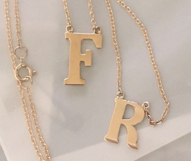 It's almost Friday people!! #initials #charms #necklaces #14kgold #takeyourpick