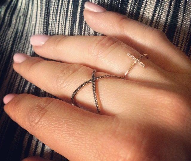 Monday Dilemma | Black #Diamond X Ring Vs. Yellow #gold Stick Ring  #AlexisJewelry #Dainty #jewels #MadeinLA