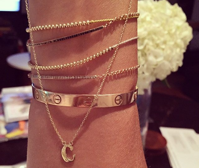 C-Cause it's #Friday !!! #TGIF #Charms #YellowGold #14k #Gold #Dainty #Bracelets & #necklace By #AlexisJewelry