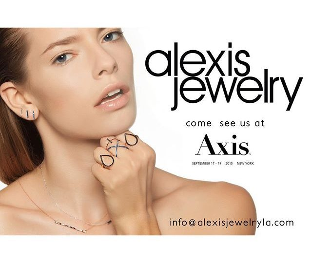 We are happy to announce that we will be showing @axisshow in #NYC September 17th-19th. Come visit us! #AlexisJewelry #axisshownyc  #Dainty #jewelry #madeinLA
