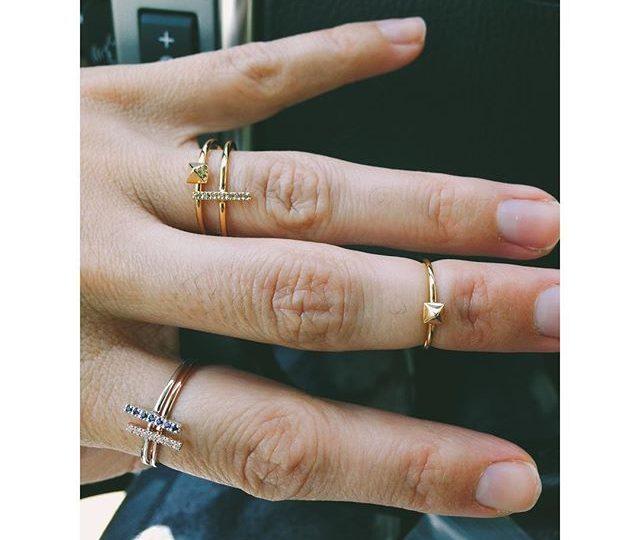 Today, We Stack'em#Whitegold #Yellowgold #Rosegold #Sapphires #stackingrings #AlexisJewelry #Dainty #Jewelry #madinLA