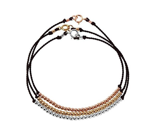 Delicate everyday layering pieces | Loving our gold/rose gold/sterling silver beaded silk string bracelets ️ #alexisjewelry #delicate #everyday #jewelry #layering #bracelets #gold #rosegold #sterlingsilver #beaded #silk #style #finejewelry #la #madeinla #losangeles