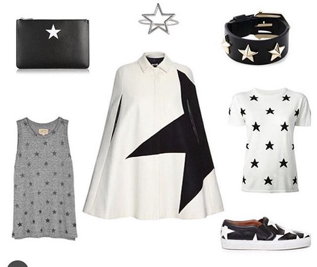 SO proud of my talented friend @andreaslookbook and SO honored to be part of her mood board. Check out our Star Ring featured along with other brands like @currentelliott @givenchyofficial @msgm_official @farfetch and @zoekarssen ️️#style #blogger #ootd #jewelry #rings #stars #moodboard #madeinla #losangeles #fashion