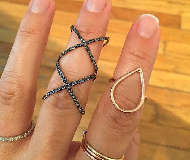 #alexisjewelry #finejewelry #diamonds #gold #sapphires #blackdiamonds #rosegold #rings #madeinla #losangeles #style #jewelry #stacks #stackedrings #westhollywood