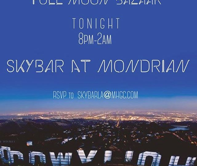 TONIGHT! Come hang out with us and sip some boozy beverages at Skybar | Let's play with jewels and listen to good tunes | Make sure to RSVP #alexisjewelry #finejewelry #fullmoonbazaar #skybar #mondrian #westhollywood #losangeles #friday #rsvp